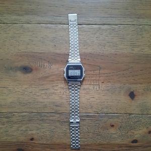 CASIO Retro Stainless Steel Digital Watch